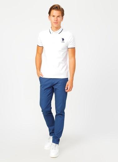 U.S. Polo Assn. U.S. Polo Assn. Slim Fit Erkek T-Shirt Beyaz